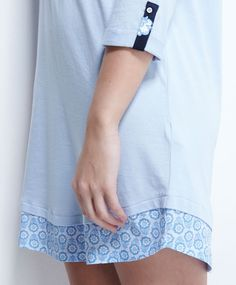 Chemise de nuit boutons bas petites fleurs - OYSHO