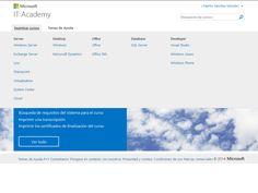 Plataforma de formación Certificada en nuestro entorno Microsoft It Academy.