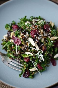 Kale, Cranberry and Breadcrumb Salad