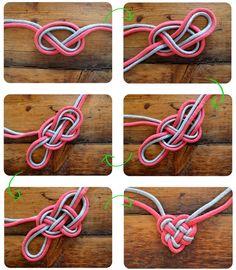 Celtic heart knot necklace #naturadmc