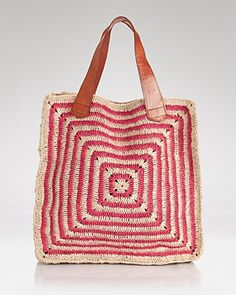 mar Y sol Tote - Panama Crocheted Striped Tote