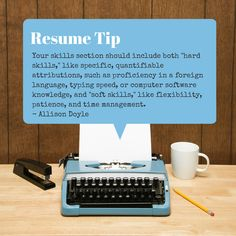 Resume Tip - hard and soft skills are needed on a resume