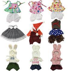 69f7356cb2205 30センチ人形服用バニーウサギぬいぐるみ素敵なクリスマスドレス服アクセサリー用1