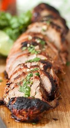 This Chipotle Honey Lime Pork Tenderloin looks so delicious!