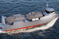 Major asset to Naval Forces. Antisubmarine (AWS) and mine warfare support. 20 to 35 kts, 40 t payload, low draft loaded ship Navy Military, Military Weapons, Camper Boat, Landing Craft, Naval, Concept Ships, Navy Ships, Military Equipment, Submarines