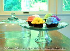 De gemakkelijkste cupcakes zijn gehaakt en niet gebakken ;). Deze cakejes zijn van de hand van Hannah Kaminsky van de blog Bittersweet. Zij gaf mij de toestemming om mijn Nederlandstalige vertaling...