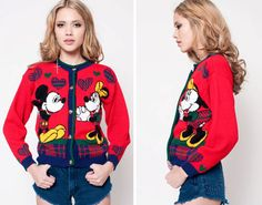 Mickey Mouse and Minnie Cardigan