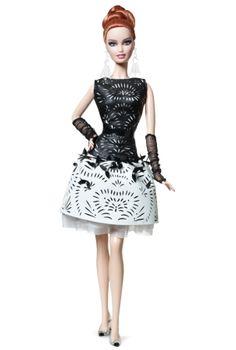 2014 Laser-couro vestido Barbie ® boneca