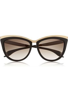 ec5f2431ad ALEXANDER MCQUEEN Cat eye acetate and metal sunglasses Gafas de sol mujer  #GiveAway #Trindu