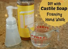 A super frugal, super easy use for castile soap (which is a mix of oils & pure essential oils) -- try making your own foaming hand soap with just 2 ingredients.  We use this soap everyday!