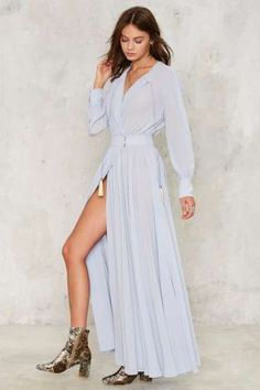 Nasty Gal Collection Chiffon Your Shoulder Maxi Dress