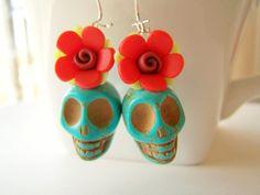 Day of the Dead Earrings - via Etsy.