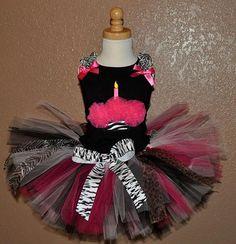 Zebra Tutus for Girls | Girls 1st Birthday Cupcake Tutu Set |Cupcake Birthday Outfit | First ...