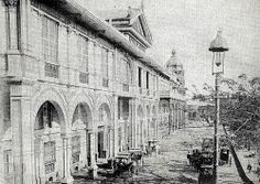 Hotel de Oriente, Binondo, Manila ca. Filipino Architecture, Philippine Architecture, Philippines Culture, Manila Philippines, Spanish Colonial Homes, Filipino Culture, Filipiniana, Historical Architecture, Pinoy
