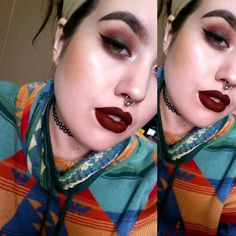 #motd I was a little obsessed with burgundy and brown today! Products: Mac Paint Pot in Painterly   Limecrime Venus Palette   NYC Liquid Liner   Covergirl Dark Side Mascara (best EVERRRR)   Anastasia Beverly Hills Dip Brow in Dark Brown   Maybelline Fit Me Powder Foundation (been giving my skin a break)   Kat Von D Tattoo Lock-It Concealer   Milani Baked Bronzer in Glow as a blush   ColourPop Ultra Matte Lip in Lax   Rosewater to set! #makeup #makeuplook #makeupartist #mua…