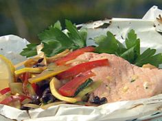 Get this all-star, easy-to-follow Paper Wrapped Anniversary Salmon recipe from Paula Deen