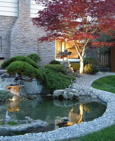 Impressive Backyard Ponds and Water Gardens 35 Impressive Backyard Ponds and Water Gardens. Find a house plan with outdoor living space at: Impressive Backyard Ponds and Water Gardens. Find a house plan with outdoor living space at: . Backyard Water Feature, Ponds Backyard, Garden Ponds, Koi Ponds, Backyard Waterfalls, Sloped Backyard, Gravel Garden, Rain Garden, Large Backyard