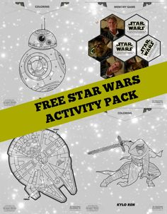Free Star Wars: The Force Awakens Coloring Pages and Activity Sheets