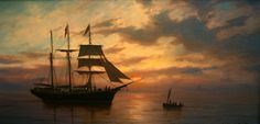 "William Steeple Davis (1884-1961) ""The Rendezvous""   10""x 16""  oil on canvas"