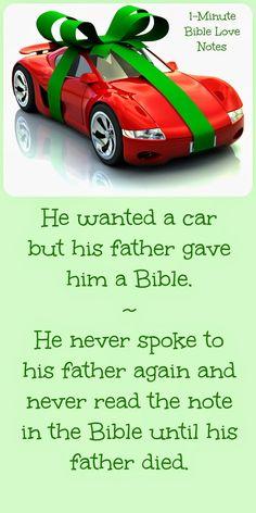 A Car or a Bible?