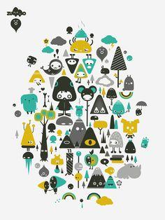t-shirt prints. part1 by zutto , via Behance