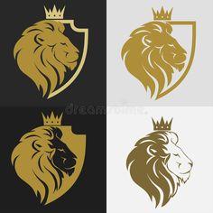 Leon Logo, Lion Head Logo, Cat Profile, Zoo Art, Crown Images, Royal Logo, Logo Image, Textile Pattern Design, Shield Logo