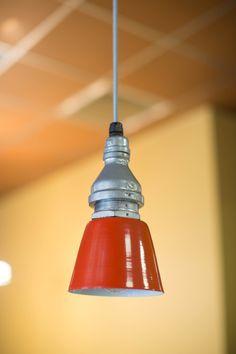 Blake SoHo Orange Mini Pendant Light from Barn Light Electric - it's $300+, but man, I love it...