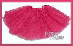 Girls Hot Pink Lace Tutu, Shabby Chic Tutu by LillyBearCreations on Etsy