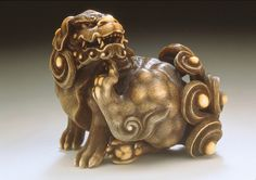 Chinese Lion Scratching Its Chin, Attributed to Kaigyokusai (Masatsugu) (Japan, 1813-1892) - Japan, mid- to late 19th century | LACMA Collections
