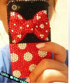 Bling rhinestone iphone 4 case iphone 4s case iphone 5 case iphone 5 cover. $28.00, via Etsy. LOVE