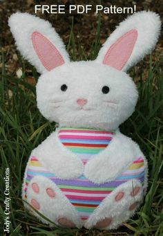 Looking for your next project? You're going to love Easter Bunny Free PDF Pattern by designer Jody Herbert. - via @Craftsy