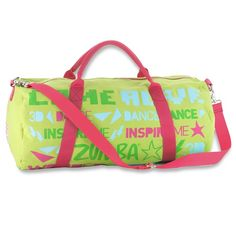 """Zumba """"Come Alive"""" Duffel bag in Lime Punch"""