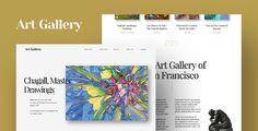 Arte - Theme WordPress per Creati e Artisti Template Wordpress, Tema Wordpress, Premium Wordpress Themes, Gallery Website, Themes Free, Artist Portfolio, 3 Arts, Types Of Art, Website Template