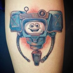 No Gods, No Masters ・・・ Had fun with this little fella from Fallout a while back. Thanks again, Olivia! Fallout Tattoo, Masters, Tattoos, Fun, Master's Degree, Tatuajes, Tattoo, Tattos, Tattoo Designs
