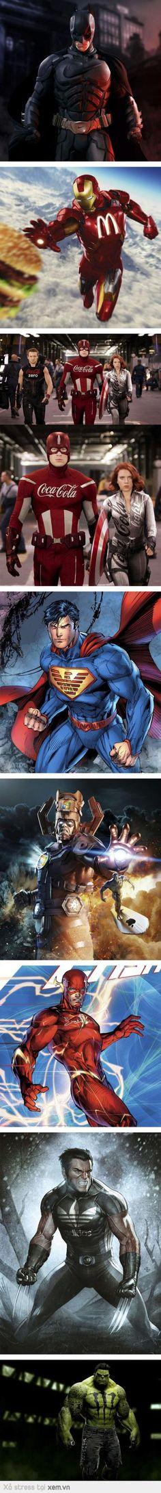 Khi các siêu anh hùng quảng cáo, pr trá hình
