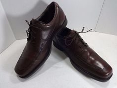 JOHNSTON MURPHY Size 13M Brown Mens Shoe Norvell Moc Toe Lace Up Oxford 3602…
