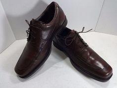 JOHNSTON MURPHY Size 13M Brown Mens Shoe Norvell Moc Toe Lace Up Oxford 3602 #JohnstonMurphy #Oxfords