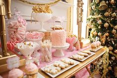 pink and gold christmas party - Google Search