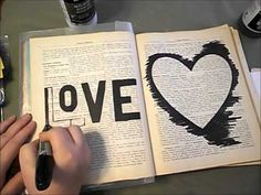 Speed through video of how I did the All You Need is Love altered book pages posted earlier. Enjoy!