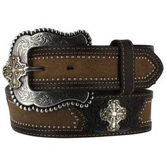 Justin Men's Cross Concho Western Belt