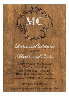 Rustic Charm Wedding Shower Invitation from Picture Perfect