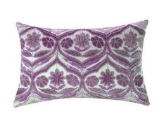 Trellis - purple pillow