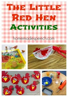 The Little Red Hen | http://homemadespeech.com/the-little-red-hen/
