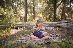 Outdoor newborn with sibling   www.jenstevensonphoto.com Orlando Newborn Photographer