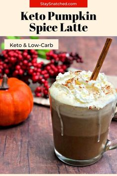 Keto Low-Carb Copycat Starbucks Pumpkin Spice Latte is a healthy coffee drink recipe perfect for fall. This beverage will remind you of pumpkin pie dessert and is low in sugar! Toss out that creamer for this keto sensation! Low Carb Mixed Drinks, Low Carb Drinks, Low Carb Smoothies, Fruit Smoothie Recipes, Healthy Coffee Drinks, Coffee Drink Recipes, Drink Recipes Nonalcoholic, Yummy Drinks, Alcoholic Beverages