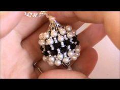 Tutorial Sfera Rivestita con Twin Beads / Superduo, Bicono e Perle Swarovski - Beaded Bead - YouTube