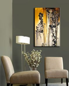 Abstract Painting Original Modern Abstract by newwaveartgallery, $275.00