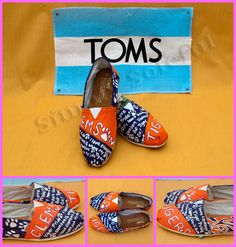 Hand painted customized TOMS: I provide the shoes. $100.00, via Etsy.