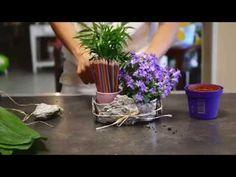 Art floral. Cours 4. Spécial enfant- Comment réaliser un porte crayon végétal  #cours #enfant #floral