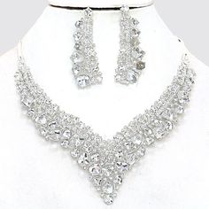 Bridal back drop v shaped necklace vintage inspired by LuxDuchess, $35.00